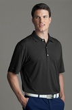 Greg Norman Play Dry Heather Knit Polo Shirt Black Heather Thumbnail