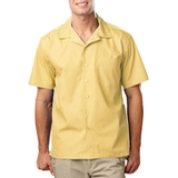 Blended Poplin Solid Camp Shirt Maize Thumbnail