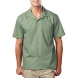 Blended Poplin Solid Camp Shirt Sage Thumbnail