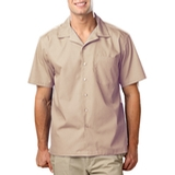 Blended Poplin Solid Camp Shirt Thumbnail