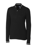 Women's Cutter & Buck Lakemont Half-Zip Black Thumbnail