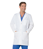 Unisex Three Button Lab Coat WHITE (WWP) Thumbnail