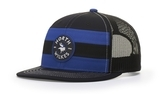 Striped Trucker Flatbill Cap Thumbnail