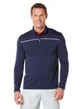Callaway Men's Long Sleeve 1/4 Zip Mock Pullover Peacoat Thumbnail
