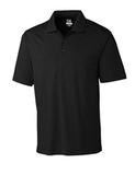 Cutter & Buck Men's DryTec Chelan Polo Shirt Solid Black Thumbnail