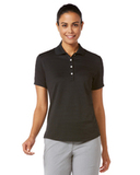 Women's Callaway Textured Performance Golf Shirt Black Thumbnail