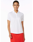 Women's Callaway Textured Performance Golf Shirt Bright White Thumbnail