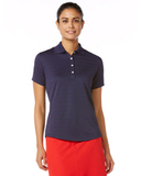 Women's Callaway Textured Performance Golf Shirt Peacoat Thumbnail