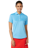 Women's Callaway Textured Performance Golf Shirt Pool Blue Thumbnail