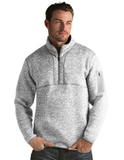 Antigua Men's Fortune Sweater-Knit Half-Zip Light Grey Thumbnail