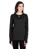 Women's Under Armour Long-Sleeve Locker T-Shirt 2.0 Black Thumbnail