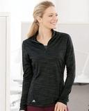 Women's Lightweight Mélange Quarter-Zip Pullover Black Melange Thumbnail