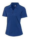 Women's Cutter & Buck DryTec Extended Sizes Championship Polo Shirt Tour Blue Thumbnail