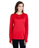 Women's Under Armour Long-Sleeve Locker T-Shirt 2.0 Red Thumbnail