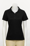 Greg Norman Women's Short Sleeve Ml75 Performance Polo Shirt Black Thumbnail