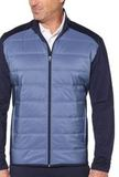 UltraSonic Quilted Jacket Peacoat Navy with Blue Thumbnail