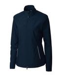Women's Cutter & Buck WeatherTec Beacon Full Zip Jacket Navy Blue Thumbnail