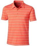 Forge Polo Heather Stripe Tailored fit College Orange Thumbnail
