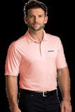 Greg Norman Protek Micro Stripe Polo Peach Thumbnail