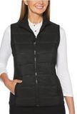 Women's UltraSonic Quilted Vest Black Thumbnail
