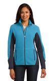 Women's Port Authority R-tek Pro Fleece Full-zip Jacket Aqua Heather with Battleship Grey Thumbnail