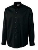Men's Cutter & Buck L/S Epic Easy Care Nailshead Black Thumbnail