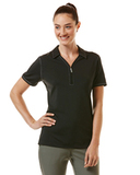 Women's Callaway Industrial Stretch Polo Black Thumbnail