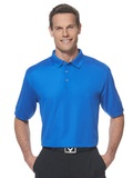 Callaway Ottoman Knit Polo Shirt Magnetic Blue Thumbnail