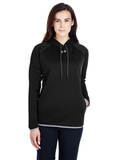 Women's Under Armour Double Threat Armour Fleece Hoodie Black Thumbnail