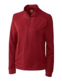 Women's Cutter & Buck DryTec Edge Full-Zip Jacket Cardinal Red Thumbnail