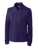 Women's Cutter & Buck DryTec Edge Full-Zip Jacket College Purple Thumbnail