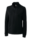 Women's Cutter & Buck DryTec Edge Full-Zip Jacket Solid Black Thumbnail