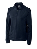 Women's Cutter & Buck DryTec Edge Full-Zip Jacket Solid Navy Blue Thumbnail