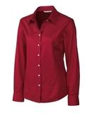 Women's Cutter & Buck Long-sleeve Epic Fine Twill Cardinal Red Thumbnail
