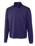 Cutter & Buck Men's DryTec Edge Half-Zip College Purple Thumbnail