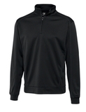 Cutter & Buck Men's DryTec Edge Half-Zip Solid Black Thumbnail