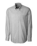 Cutter & Buck Men's Long Sleeve Epic Easy Care Tattersall Black Thumbnail