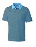 Cutter & Buck Men's DryTec Trevor Stripe Polo Shirt Atlas with Navy Thumbnail