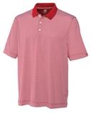 Cutter & Buck Men's DryTec Trevor Stripe Polo Shirt Cardinal Red with White Thumbnail