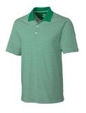Cutter & Buck Men's DryTec Trevor Stripe Polo Shirt Loft with White Thumbnail