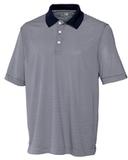 Cutter & Buck Men's DryTec Trevor Stripe Polo Shirt Navy Blue with White Thumbnail