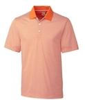 Cutter & Buck Men's DryTec Trevor Stripe Polo Shirt Orange Burst with White Thumbnail