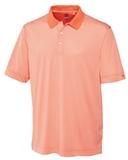 Cutter & Buck Men's DryTec Trevor Stripe Polo Shirt Papaya with White Thumbnail