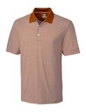 Cutter & Buck Men's DryTec Trevor Stripe Polo Shirt Texas Orange with White Thumbnail