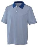 Cutter & Buck Men's DryTec Trevor Stripe Polo Shirt Tour Blue with White Thumbnail