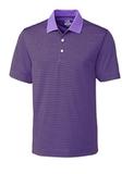 Cutter & Buck Men's DryTec Trevor Stripe Polo Shirt Valor with Black Thumbnail