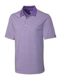Cutter & Buck Men's DryTec Trevor Stripe Polo Shirt Valor with White Thumbnail