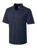 Cutter & Buck Men's DryTec Chelan Polo Shirt Navy Blue Heather Thumbnail