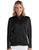 Antigua Women's Passage Full Zip Jacket Black with Smoke Thumbnail