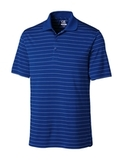 Cutter & Buck Men's DryTec Big & Tall Franklin Stripe Polo Shirt Tour Blue with White Thumbnail